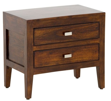 Kraft Home Bedside Table with Two Drawers (Lacquer Finish, Multicoloured)