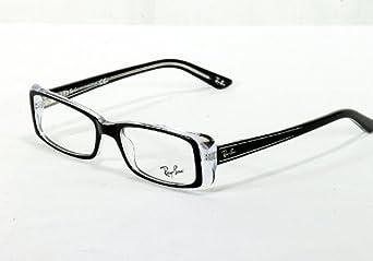 Ray-Ban RX5243 Eyeglasses Top Black on Transparent 50mm