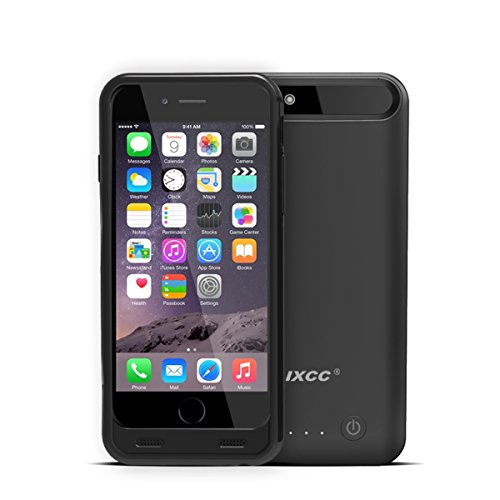 Click to buy iXCC 3100mah External Battery Backup Charging Case for Apple iPhone 6, 6s with Micro USB Input Mode - MFI Certified - Black - From only $12.48