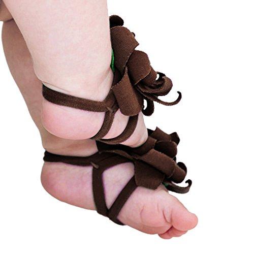 Fullkang 0-12M Baby Toddler Infant Girls Sock Sandals Shoes Toe Blooms Shoes