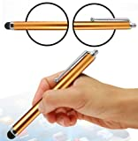 Wayzon Orange High Capacitive / Resistive Soft Rubber End Touch Screen Stylus Pen Suitable For HTC Touch 3G / Cruise / Diamond / Dual / HD T8285 / Wildfire / Windows Phone 8S
