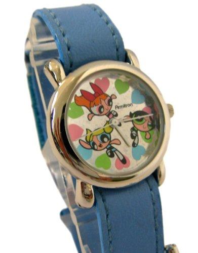 Cartoon Network Powerpuff Girls Wrist Watch - Power Puff Heart to Heart watch with velcro closure band