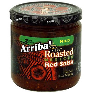 Arriba Fire Roasted Mexican Red Salsa Mixed Pack Mild Medium Hot 16oz Pack Of 3 by Arriba!