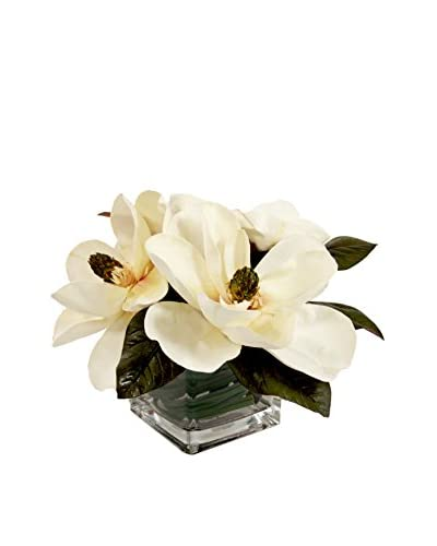 Creative Displays Inc. Magnolia Blossom Cube, White/Green