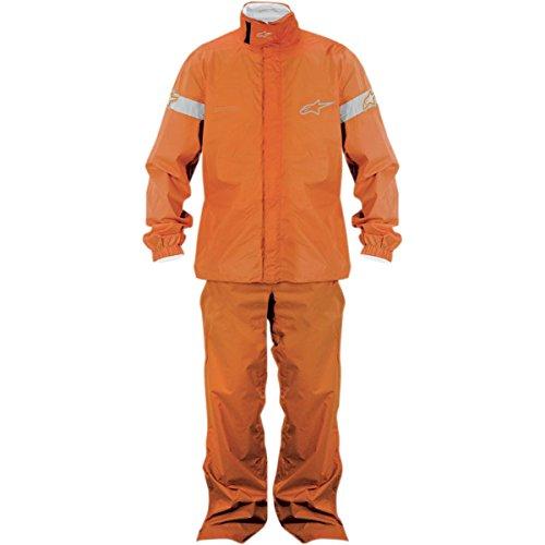 Alpinestars Quick Seal Out Rain Jacket and Pants , Gender: Mens/Unisex, Primary Color: Orange, Size: XL, Distinct Name: Orange 3264512-40-XL