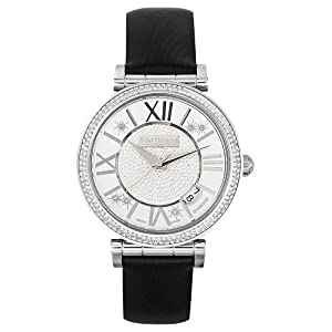 Saint Honore Women's 766012 1PARDN Opera Pavet Diamond Dial Black Satin Watch