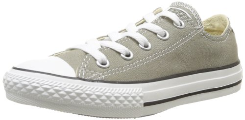 CONVERSE Unisex-Child Chuck Taylor All Star Season Ox Trainers 015760-31-163 Vieil Argent 13.5 UK, 32 EU