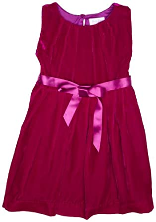 5640c0940 Buy Rachel Riley Silk Velvet Pleated Tulip Girl's Party Dress at £119.00  from Amazon