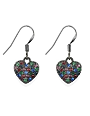 M&S Collection Diamanté Heart Drop Earrings
