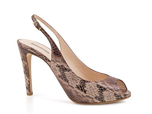 Décolleté a sandalo Giorgio Armani in pitone Sabbia - Codice modello: X1G055 XC367 00085 - Taglia: 36 IT