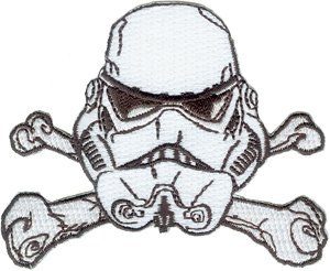 Star Wars Movie Clone Stormtrooper Crossbones Embroidered Iron On Patch SW51