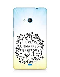 AMEZ there is unmapped territory in all of us Back Cover For Microsoft Lumia 535