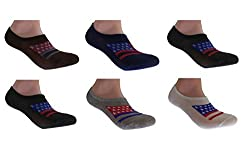 2016 Latest Design Men's England Flag Print No Show Loafer Socks (Pack of 6) -FREE SHIPPING