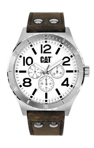 CAT NI.149.35.232 - Reloj analógico de cuarzo para hombre, correa de cuero color marrón