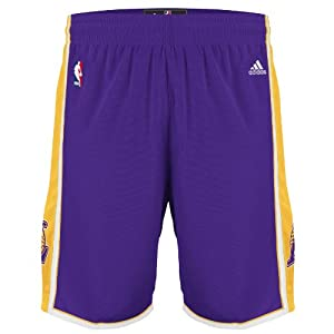 NBA adidas Los Angeles Lakers Youth Replica Shorts - Purple by adidas
