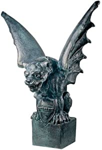 Orlandi Statuary Giant Gargoyle of Lyon Fiberglass Garden Statue - Yard Art