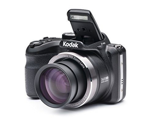 Kodak A361 Black 16 MP Digital Camera with 36x Optical Image Stabilized Zoom and 3-Inch LCD