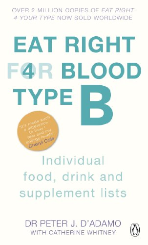 Eat Right For Blood Type B: Individual Food, Drink and Supplement lists
