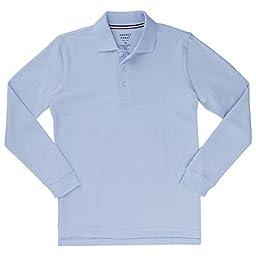 French Toast Long Sleeve Pique Polo Boys Blue 5