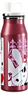 alfi 5367140060 Trinkflasche elementBottle Sweet bunny, Trinkverschluss 0.6 l, purple