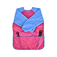 Newcomdigi Children's Art Smock Long Sleeve Painting Apron Waterproof Painting Apron(Pink and…