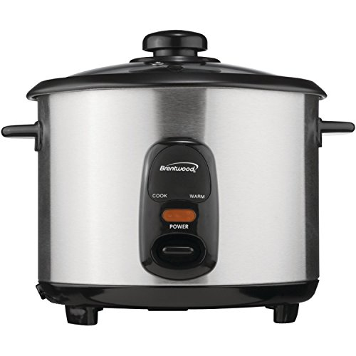 Brentwood Ts-15 8-Cup Stainless Steel Rice Cooker front-571538
