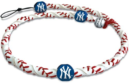 MLB New York Yankees Classic Frozen Rope Baseball Necklace (Ny York Yankees compare prices)