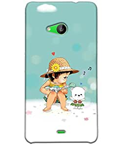 Fuson Music Boy Back Case Cover for NOKIA MICROSOFT LUMIA 535 - D3941