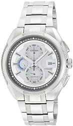 Citizen Eco-Drive Analog White Dial Mens Watch - CA0201-51B