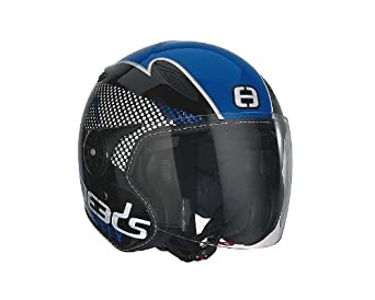 Casque Speeds Jet City Design noir bleu brillant taille XS
