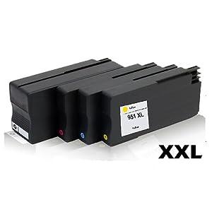 4x Kompatible Tintenpatronen für HP Office Jet Pro251dw OfficeJet Pro276dw OfficeJet Pro8100 ePrinter OfficeJet Pro8600e All in One CN045AE CN046AE CN047AE C N048AE