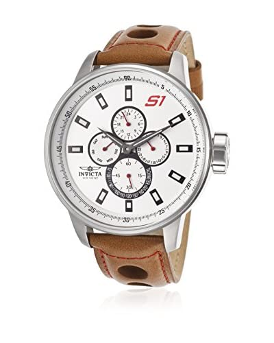 Invicta Men's 16016 S1 Rally Brown/Silver-Tone Stainless Steel Watch