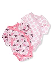 2 Pack Pure Cotton Long Sleeve Assorted Bodysuits