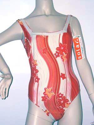 SOLAR toller Badeanzug Gr.38-A Bügel orange-vanille NEU
