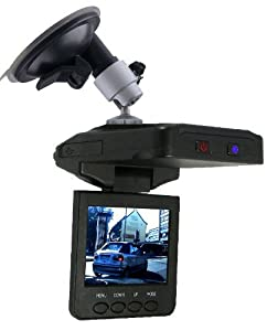 """Car Black-Box - Auto-Hochgeschwindigkeits digital Rekorder / Überwachungs-Kamera / Audio Video Unfalldatenschreiber - Fahrtenschreiber / Infrarot Nachtsicht + Bewegungssensor / 2.5"""" TFT LCD Monitor / 4GB SD Karte Extra * Blackbox"""