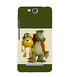 printtech Disney Pixar Monsters Back Case Cover for Micromax Canvas Juice 3 Q392