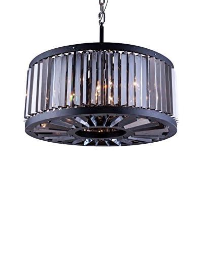 Urban Lights Chelsea 8-Light Pendant Lamp, Mocha Brown/Silver