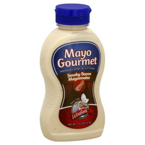 Woeber's Mayo Gourmet Smoky Bacon Mayonnaise 11fl.oz (Pack of 3)
