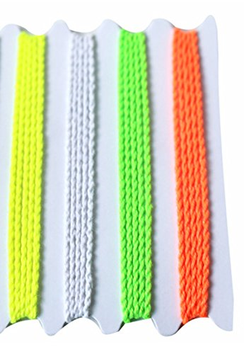 Blackcell 40 Yoyo String (10 Each - Florescent Lime Green, Yellow, Orange and White) - 1