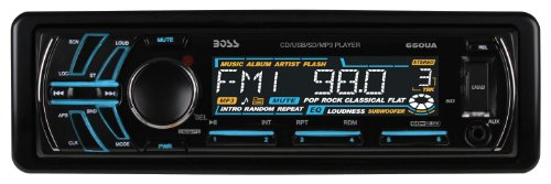 BOSS AUDIO 650UA Single-DIN CD/MP3 Player Receiver, Detachable Front Panel, Wireless Remote
