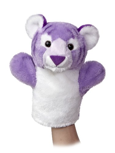 "Aurora World Sleeve Tiger Plush Puppet, 10"" Tall"