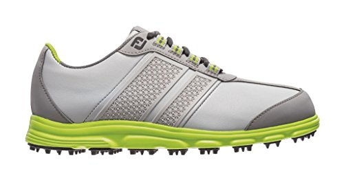 FootJoy Junior Superlite CT Spikeless Golf Shoes 45052 2014 CLOSEOUT Light Grey/Lime Medium 5Y