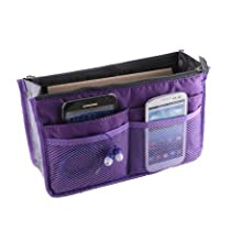 Buypretty New Women Travel Insert Handbag Organiser Purse Large liner Organizer Tidy Bag--purple