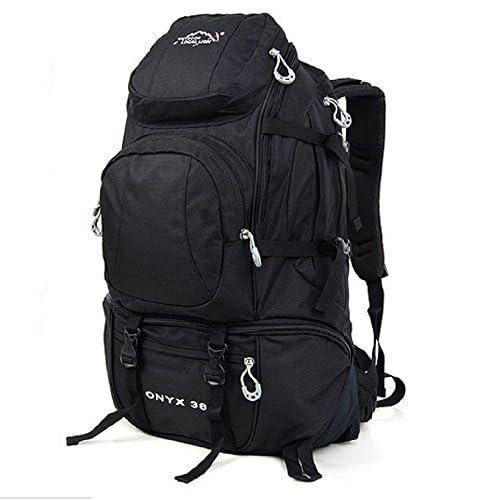 38L 収納 充実 大容量 バック パック 登山 アウトドア 旅行 用 アルパイン バッグ (ブラック)