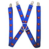 (1x70) DC Comics - Superman Shield Blue Suspenders