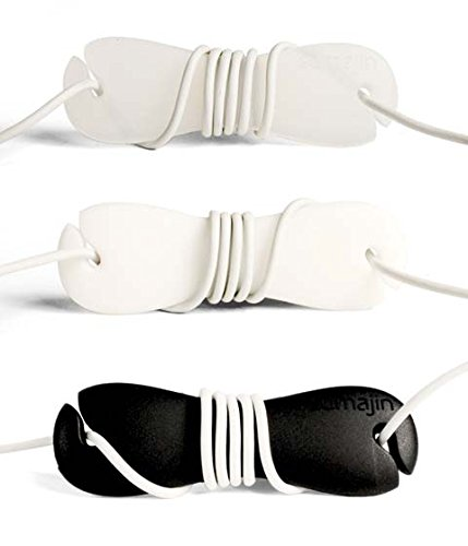 Sumajin Smartwrap Earphone Cord Manager (Set Of 3 - Black, White, Clear)