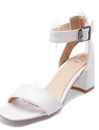 zapatos-de-mujer-tacon-robusto-punta-abierta-sandalias-vestido-semicuero-blanco-plata-oro-white-us9-