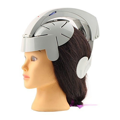 Humanized Design Electric Head Massager Brain Massage Relax Easy Acupuncture Points Fashion Gray Health Care Home 2016 Hot