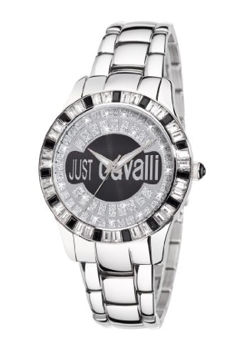 Just Cavalli Ladies Ice Analogue Watch R7253169025 with Quartz Movement, Stainless Steel Bracelet and Black Dial