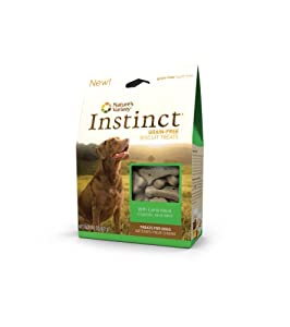 Instinct Grain-Free Lamb Meal and Carrots, Dog Biscuits by Nature's Variety, 11-Ounce Packages (Pack of 3)